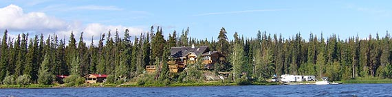 Anahim Lake, BC and the lodge.