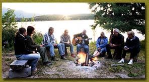 Sing along around a campfire