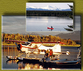 Charter floatplane and canoe.