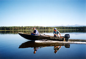 Two men going out fishing.
